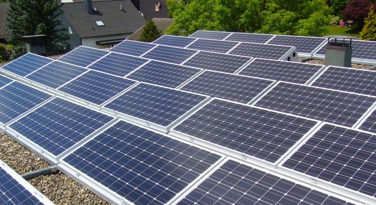 Eine der Solaranlagen der BEG 58 - Photovoltaik als dezentrale alternative Energiequelle