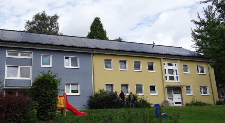 Solaranlage aus Dünnschichtmodulen der BEG 58 in Hattingen