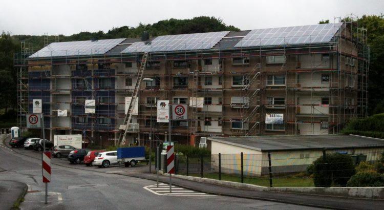 Solaranlage der BEG 58 in Schwelm, Hegelstraße 2 - 6