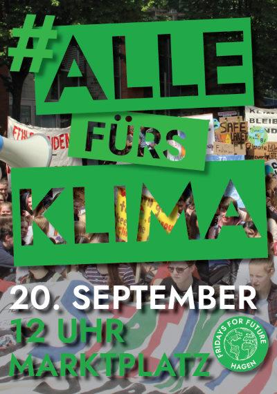Klimastreik 12 Uhr 20 September Hagen Marktplatz #fridaysforfuture