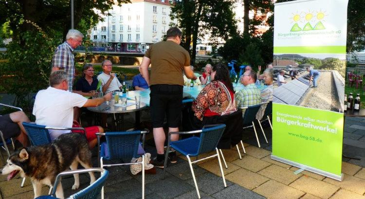 Aktivenfest der Bürgerenergiegenossenschaft BEG-58 im August im AllerWeltHaus in Hagen