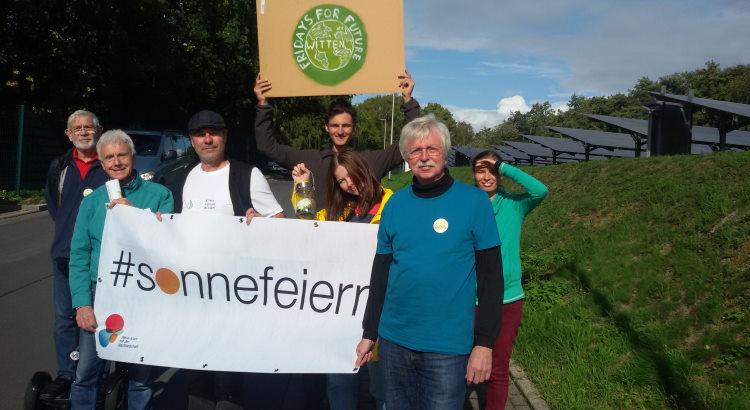 Klimastreik, Umweltmarkt, Klimamarkt - Die BEG-58 war im September auf einigen Veranstaltungen in Witten und Wetter (Ruhr) vertreten.