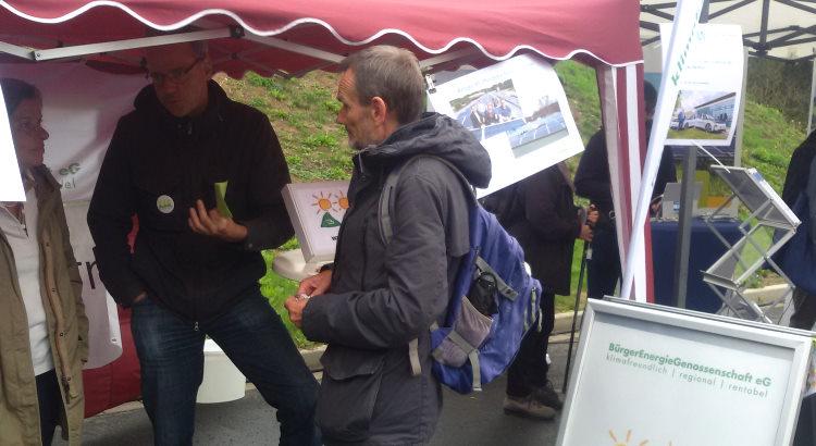 Die Bürgerenergiegenossenschaft BEG-58 auf dem Klimamarkt in Witten