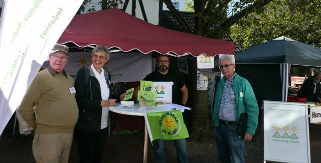Die Bürgerenergiegenossenschaft BEG-58 auf dem Regionalmarkt in Witten Herbede