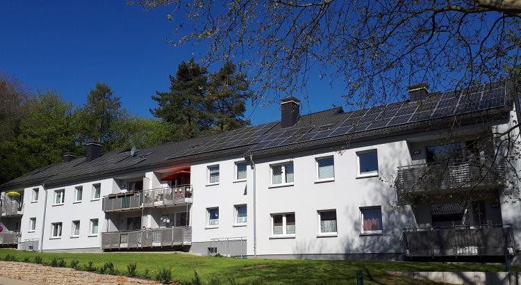 Solaranlage auf einem Mehrfamilienhaus der hgwg-Herdecke