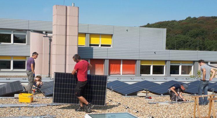 Bau einer Solaranlager der BEG-58