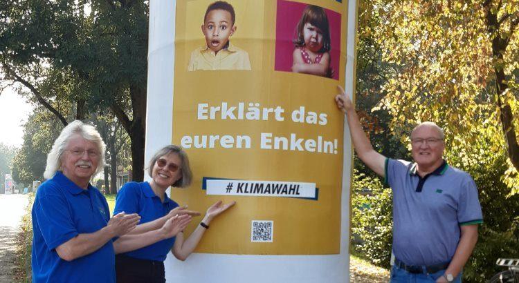 Plakat zum Thema Klimaschutz zur Bundestagswahl 2021